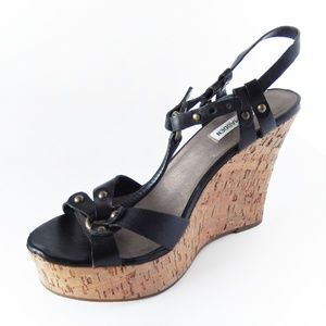 "Steve Madden ""Quesst"" Cork Wedge Sandals"